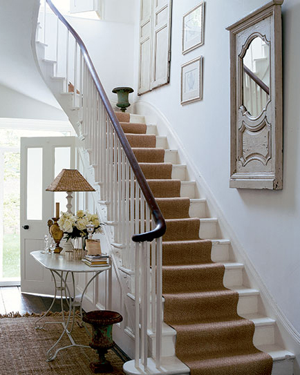 how to fit carpet runner on stairs